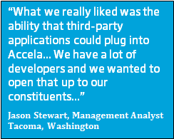 Management Analyst Jason Stewart with Tacoma, Washington Uses the Accela Civic Platform