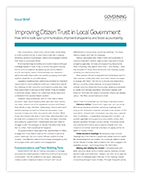 White paper: improving trust in local government.