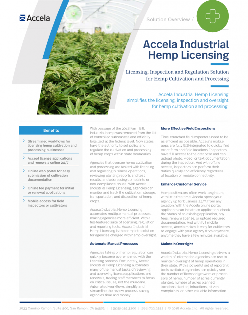 Accela Industrial Hemp Solution Overview thumbnail image