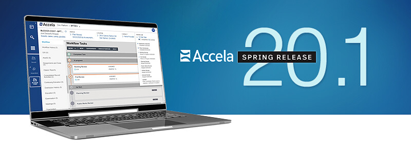 accela version 20.1 on a computer