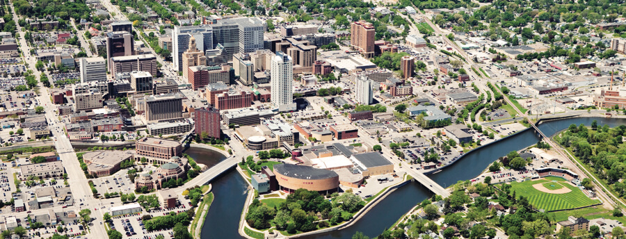 aerial view of Rochester Minnesota
